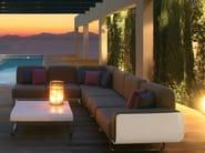 Corner sectional fabric garden sofa FOLD | Sectional sofa - ROYAL BOTANIA