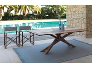 Folding textilene garden chair with armrests BRIDGE | Folding chair - Talenti