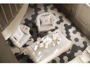 Ceramic flooring with metal effect FOLK - AREZIA