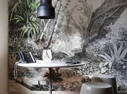 Panoramic wallpaper with floral pattern FORESTA - Inkiostro Bianco