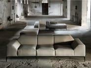 Sectional fabric sofa with removable cover FORTYFIVE | Sofa - Minimomassimo