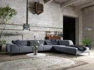 Sectional fabric sofa with removable cover FORTYFIVE   Corner sofa - Minimomassimo