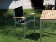 Aluminium garden chair with armrests FORUM | Chair - FISCHER MÖBEL