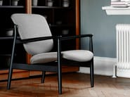Fabric chair with armrests FRANCE CHAIR | Fabric chair - Onecollection