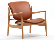 Sedia in pelle con braccioli FRANCE CHAIR | Sedia in pelle - Onecollection