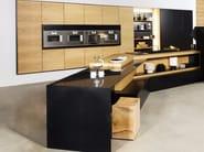 Kitchen with peninsula FX CARBON - TM Italia Cucine