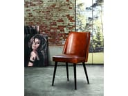 Upholstered leather chair GARBO - Oliver B.