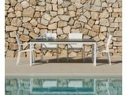 Extending rectangular Polywood® garden table CARLOS | Garden table - Talenti