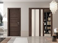 Wood and glass pocket sliding door GEO | Pocket sliding door - Pail Serramenti