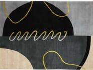 Handmade rectangular rug GEO SPRING I - Deirdre Dyson