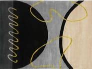 Handmade rectangular rug GEO SPRING II - Deirdre Dyson