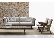 Garden armchair with armrests GIO | Garden armchair - B&B Italia Outdoor, a brand of B&B Italia Spa