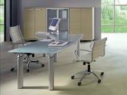 Crystal office desk GIOVE G20VP - Arcadia Componibili - Gruppo Penta