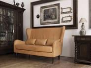 2 seater high-back leather sofa GRETA | Sofa - SITS
