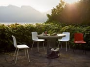 Stackable polypropylene chair with armrests HAL CAFETERIA - Vitra