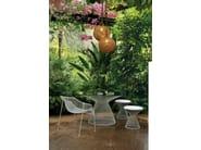 Tavolo da giardino rotondo in acciaio e cristallo HEAVEN | Tavolo rotondo - EMU Group S.p.A.