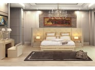 Leather double bed with upholstered headboard HELLEN | Bed - Formitalia Group