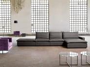 Fabric sofa with chaise longue HENRI   Sofa with chaise longue - Domingo Salotti