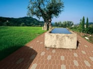 Indoor/outdoor full-body porcelain stoneware flooring HEX - LOZENGE - ETRURIA design