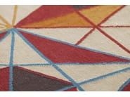 Wool rug with geometric shapes HEXA - GAN By Gandia Blasco