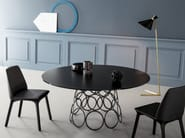 Round crystal table HULAHOOP | Crystal table - Bonaldo