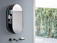 Oval wall-mounted mirror with cabinet I CATINI OVAL BOX - Ceramica Cielo