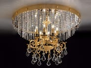 Direct light incandescent metal ceiling lamp with crystals IMPERO VE 780 | Ceiling lamp - Masiero