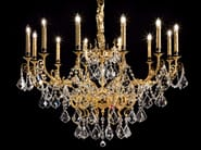 Direct light incandescent metal chandelier with crystals IMPERO VE 781 - Masiero