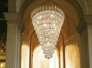 Direct light incandescent metal ceiling lamp with crystals IMPERO VE 810 | Ceiling lamp - Masiero