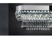 Direct light metal wall light with crystals IMPERO VE 813 | Wall light - Masiero