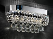 LED direct light chrome plated wall light with crystals IMPERO VE 819 | Wall light - Masiero