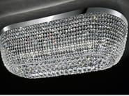 Lampada da soffitto a LED a luce diretta in metallo cromato con cristalli IMPERO VE 819 | Lampada da soffitto - Masiero