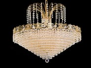 Direct light incandescent brass chandelier with crystals IMPERO VE 828 - Masiero