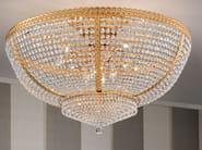 Lampada da soffitto a luce diretta incandescente in ottone con cristalli IMPERO VE 831 | Lampada da soffitto - Masiero