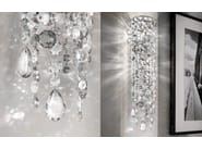 Direct light incandescent painted metal wall light with crystals IMPERO VE 892 | Wall light - Masiero