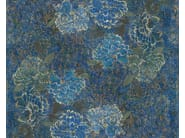 Waterproof glass-fibre wallpaper with floral pattern INTO THE BLUE - Wall&decò