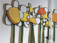 Wallpaper with floral pattern IO E TE - Inkiostro Bianco