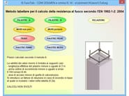 Calculation of fire resistance of structural element IS FUOCO - CDM DOLMEN