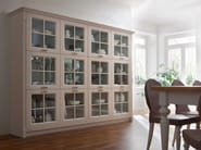 Sectional wood and glass display cabinet ITALIAN MOOD | Display cabinet - Callesella Arredamenti S.r.l.