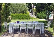 Rectangular steel garden table IVY | Rectangular table - EMU Group S.p.A.