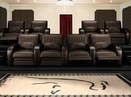 Poltrona per auditorium in pelle con schienale regolabile JARAMA | Poltrona per auditorium - Tonino Lamborghini Casa by Formitalia Group