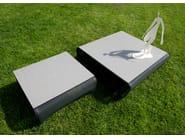 Aluminium garden side table JETSTREAM | Coffee table - Les jardins