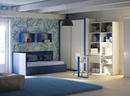 Fitted wooden teenage bedroom KC 207 | Bedroom set - Moretti Compact