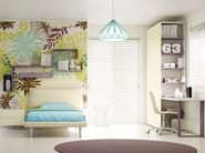 Fitted wooden teenage bedroom KC 209 | Bedroom set - Moretti Compact