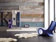 Wood effect panoramic wallpaper KEI - Inkiostro Bianco