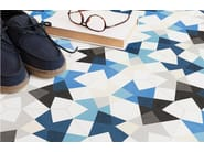 Cement flooring KEIDOS BLUE - enticdesigns