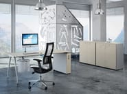 Rectangular workstation desk KINESIS KC2 - Arcadia Componibili - Gruppo Penta