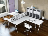 Multiple office workstation for open space KINESIS KC3 - Arcadia Componibili - Gruppo Penta