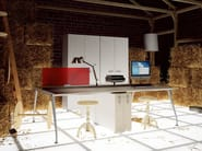Multiple office workstation for open space KINESIS KC4 - Arcadia Componibili - Gruppo Penta