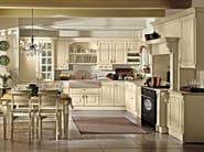 Lacquered wooden fitted kitchen with handles RAFFAELLO | Kitchen - Oikos Cucine